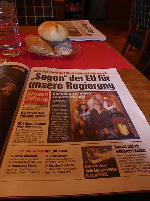 Jahresabschlussessen 2017 Kronen Zeitung
